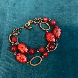 Premier Designs Red Beaded Bracelet